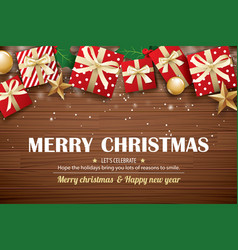 merry christmas poster background design template vector image
