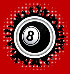 Number eight bingo lottery ball on crowd border vector