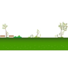 Park Landscape Background vector