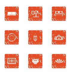 Pecuniary icons set grunge style vector