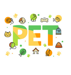 Pet shop signs concept card poster vector