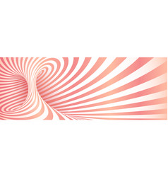 pink geometric twisted stripes abstract background vector image