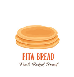 pita bread icon vector image
