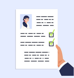Qualification personal document cv documentation vector