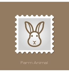Rabbit stamp Animal head vector image