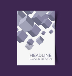 report cover design vector image