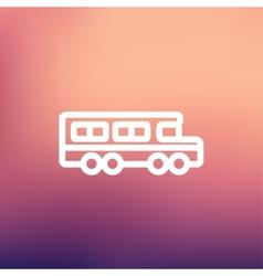 School bus thin line icon vector image