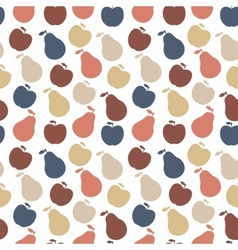 Seamless pattern of fruit - apple and pear vector