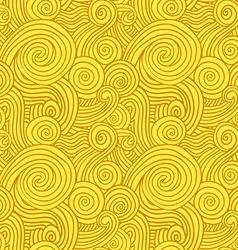 Seamless Yellow Swirls vector image