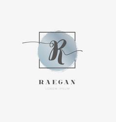 simple elegant initial letter r logo type sign vector image