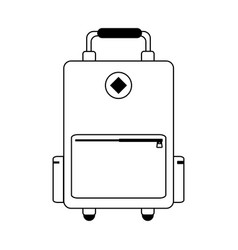 Suitcase with wheels icon image vector