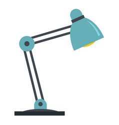 Table lamp icon isolated vector