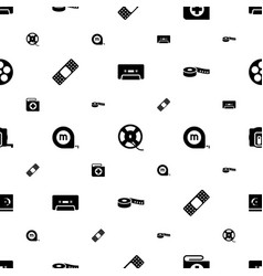 Tape icons pattern seamless white background vector