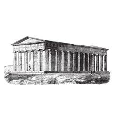 Temple of theseus temple of hephaestus and athena vector