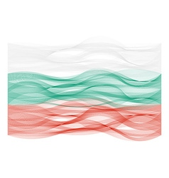 Wave line flag of Bulgaria vector