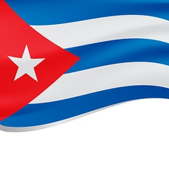 waving flag cuba isolated on white vector image