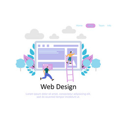 web page design templates for business teamwork vector image