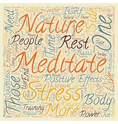 Why You Need to Meditate text background wordcloud vector image