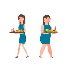 Women with food vector