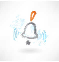 bell rings grunge icon vector image vector image