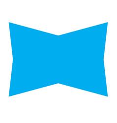 blue banner ribbon on white background blue vector image vector image
