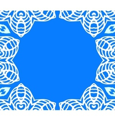 Geometric art deco frame with white lace vector