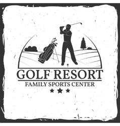 Golf resort concept vector image