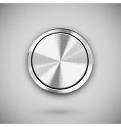 Metal circle button vector