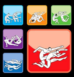 sport buttons set03 vector image