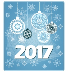 blue new year card 2017 vector image vector image