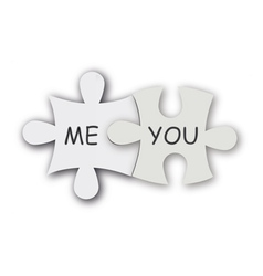 jigsaw puzzle as love symbol vector image vector image