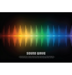 Music equalizer wave vector image vector image