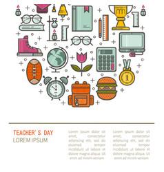Teacher gratitude vector