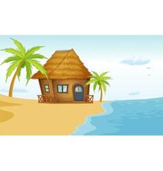 Beach bungalow vector image