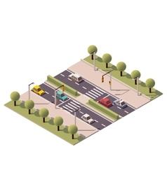 isometric pedestrian crossing vector image vector image