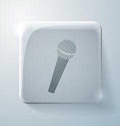 microphone Glass square icon vector image