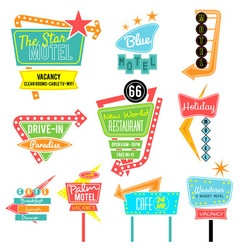 neon sign color vector image