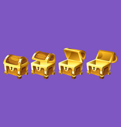 treasure chest for animation vector image