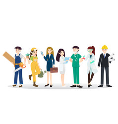 a group of people of different occupation vector image vector image