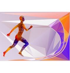 abstract marathon vector image