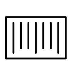 barcode pixel perfect thin line icon 48x48 vector image