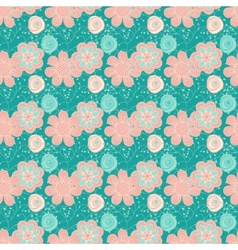 Elegant dark blue seamless pattern vector image