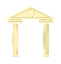 Greek Portico Greek temple Two column and roof vector image