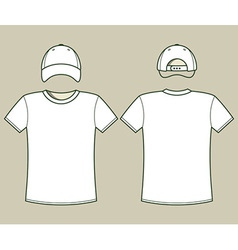 T-shirt and cap template vector image vector image