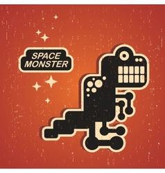 Vintage monster vector