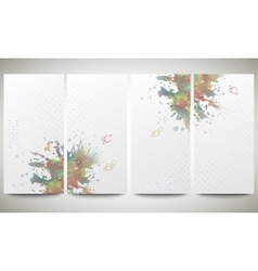 Abstract hand drawn watercolor background with vector