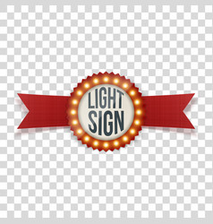 Advetrising banner with light bulbs vector