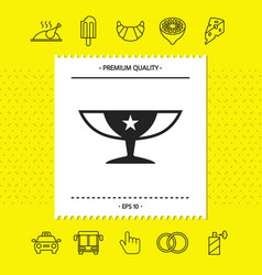 Awards champions cup icon with star graphic vector