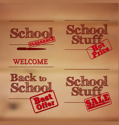 Back to school - retro typography design logos vector
