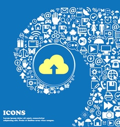 Backup icon Nice set of beautiful icons twisted vector